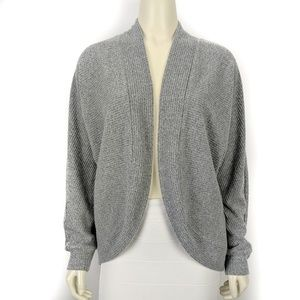 Gap Gray Soft Spun Ribbed Open Front Cardigan SM